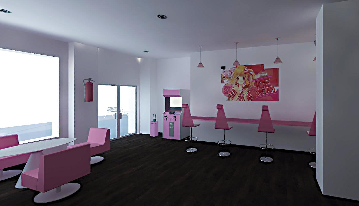 Helader A Sweet Gallery Decoramildecoramil # Muebles Heladeria