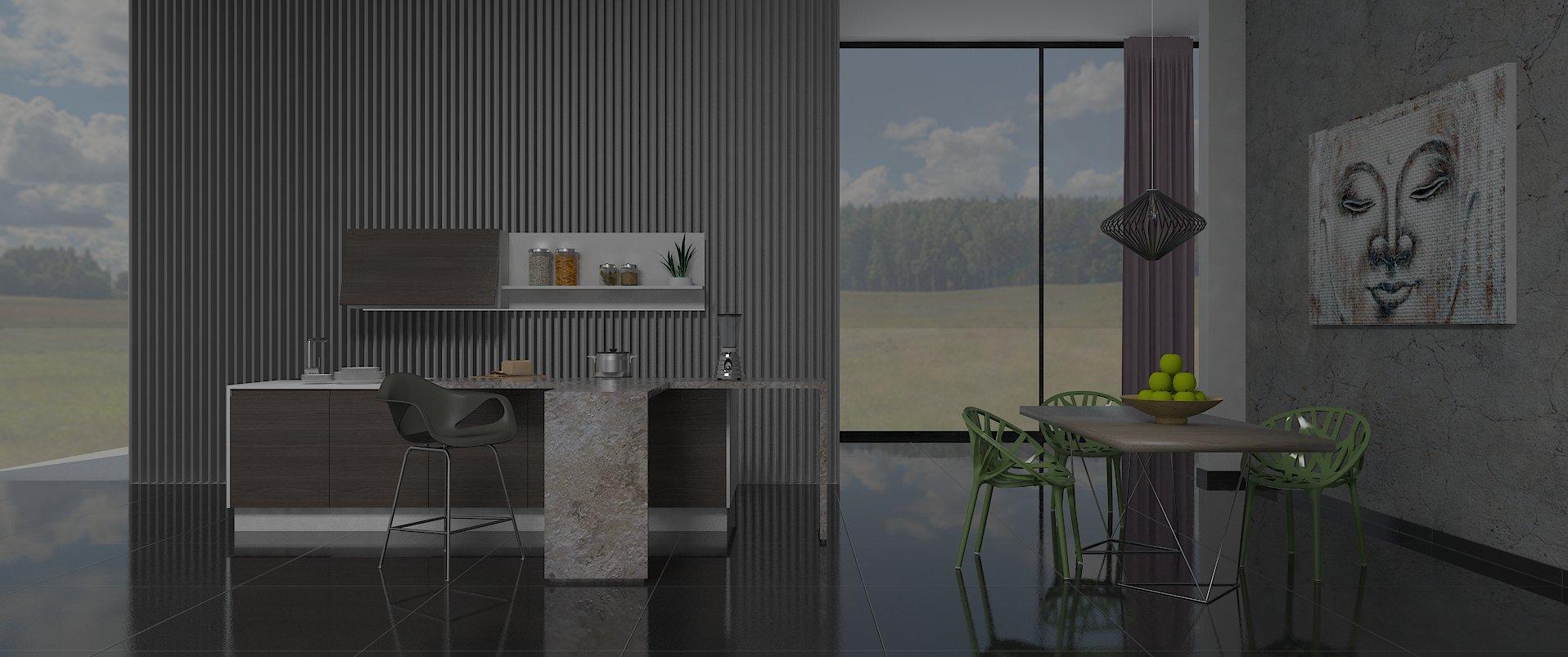 Diseño de cocina con V- Ray - DecoramilDecoramil